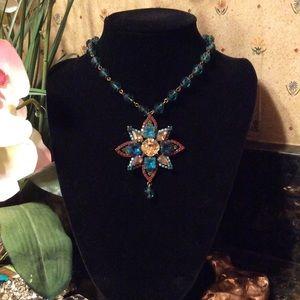 Sorrelli royal aqua crystal star necklace